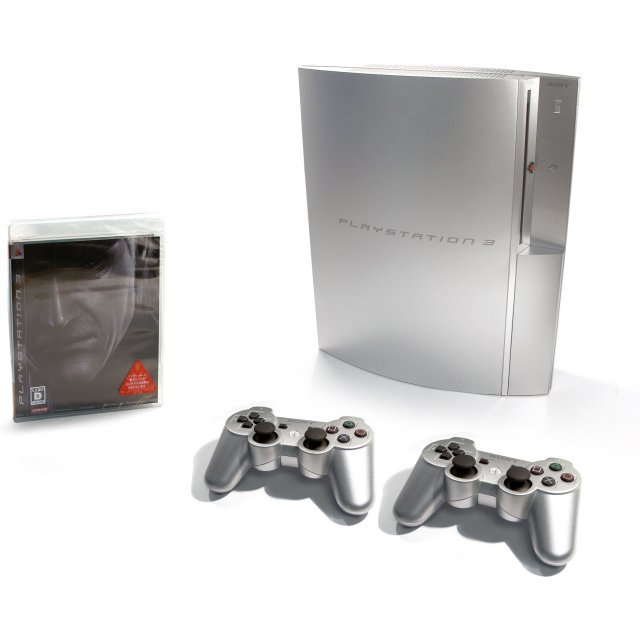 PS3 MGS4 Welcome Box with Dual Shock 3 (Satin Silver) [Cracked Outer Package]