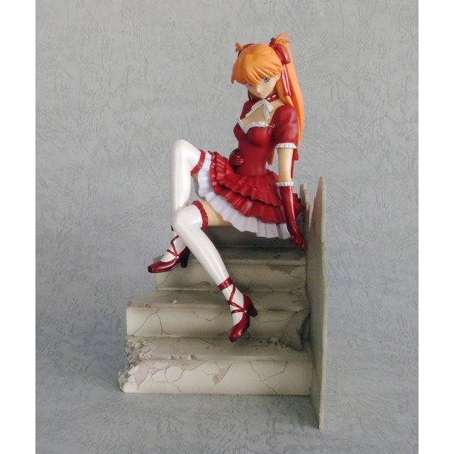 Neon Genesis Evangelion 1/7 Scale Pre-Painted Statue: Asuka Langley Gothic Lolita Version (Red)