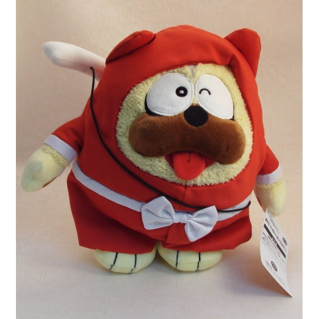 Ninja Hattori-Kun Plush Doll Dog Shimaru (Ninja Red Version)