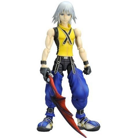 Kingdom Hearts Play Arts Non Scale Pre-Painted Figure: Riku