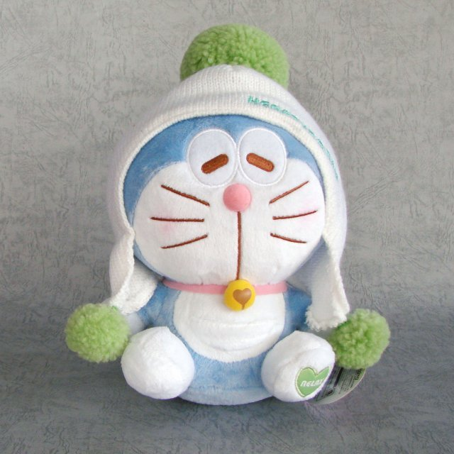 Taito Series Doraemon Knit Cap Plush Doll: Doraemon Relax Version