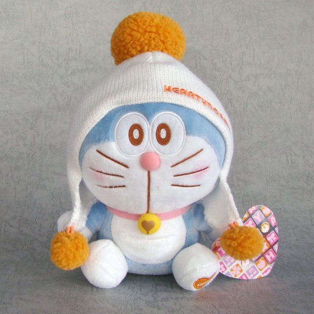 Taito Series Doraemon Knit Cap Plush Doll: Doraemon Cheer Version