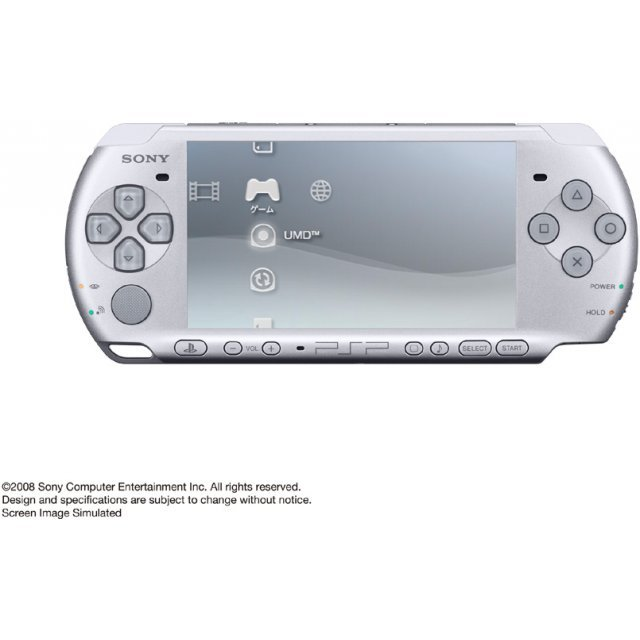 psp playstation portable slim lite mystic silver psp 3000ms. Black Bedroom Furniture Sets. Home Design Ideas