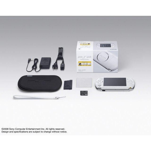 PSP PlayStation Portable Slim & Lite - Pearl White Value Pack (PSP-3000KPW)