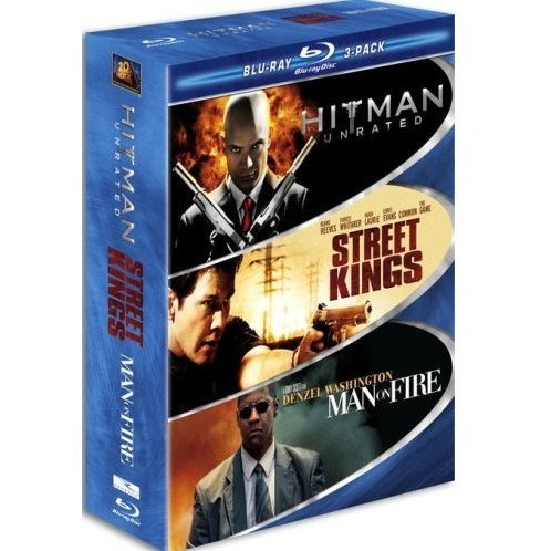 Hard Action Blu-ray 3-Pack (Hitman / Street Kings / Man on Fire)