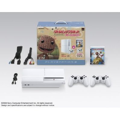 PlayStation3 Console (HDD 80GB LittleBigPlanet Dream Box) - Ceramic White