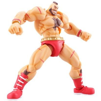 Revoltech SFO Series No.005 Non Scale Pre-Painted PVC Figure: Zangief
