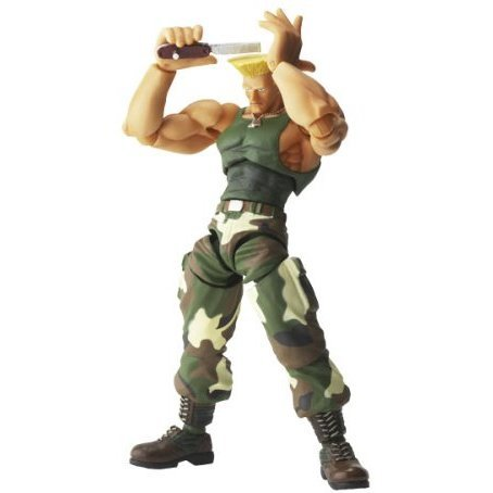 Revoltech SFO Series No.008 Non Scale Pre-Painted PVC Figure: Guile
