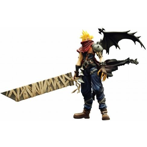 Kingdom Hearts Play Arts Non Scale Pre-Painted PVC Figure: Cloud (Kingdom Hearts Version)