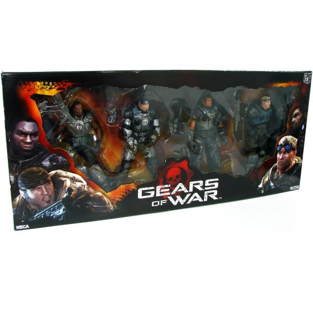 Gears of War Delta Squad Action Figure Box Set