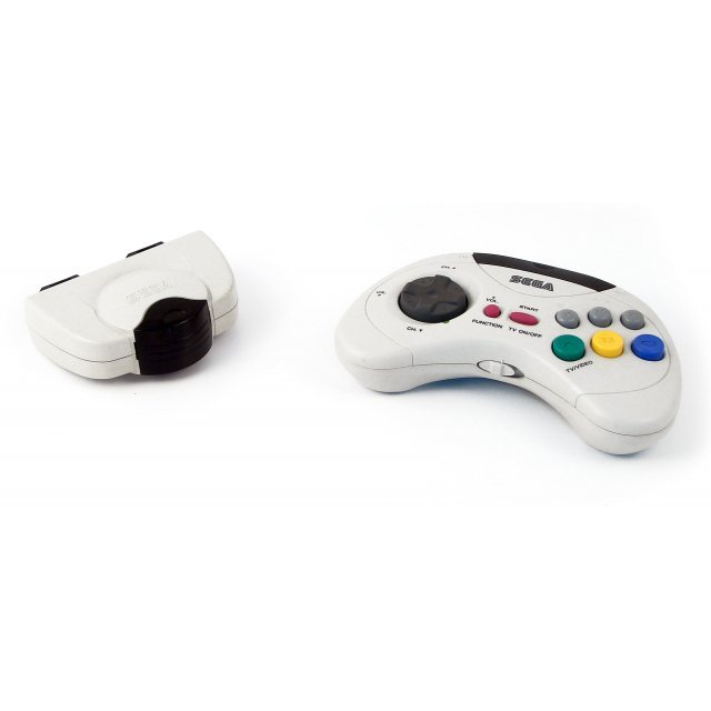 Saturn Cordless Joypad - white (w/ receiver) (loose)