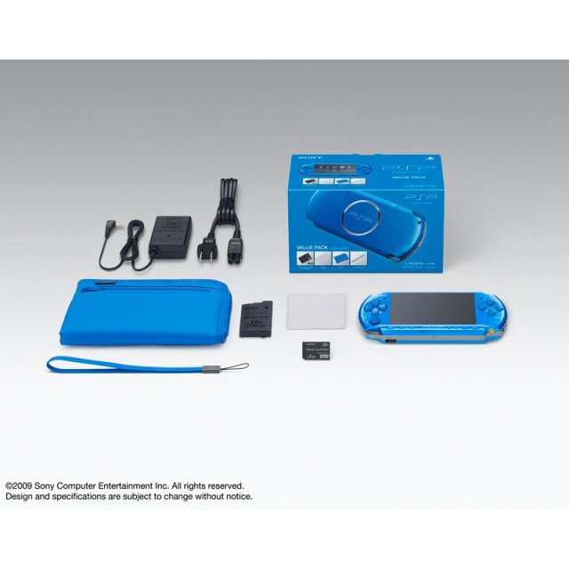 PSP PlayStation Portable Slim & Lite - Vibrant Blue Value Pack (PSPJ-30002)