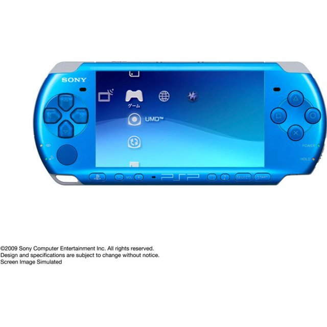 psp playstation portable slim lite vibrant blue psp 3000vb. Black Bedroom Furniture Sets. Home Design Ideas