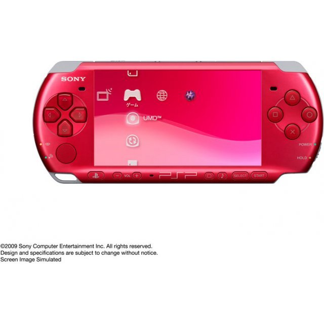 psp playstation portable slim lite radiant red psp 3000rr. Black Bedroom Furniture Sets. Home Design Ideas