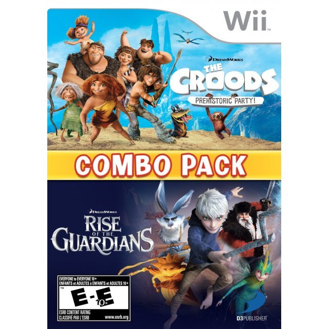 The Croods: Prehistoric Party & Rise of the Guardians: Combo Pack