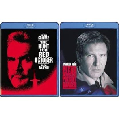 Clear and Present Danger / The Hunt for Red October (Blu-Ray 2-pack Back to Back)