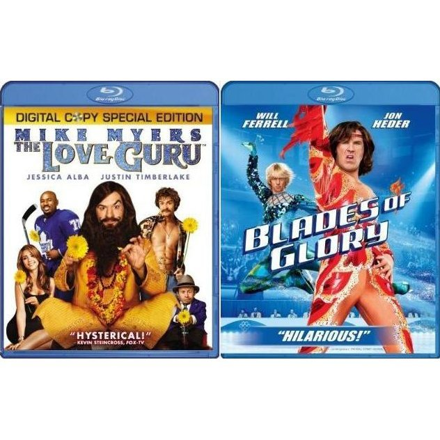 Love Guru and Blades Of Glory (Blu-Ray 2-pack Side by Side)