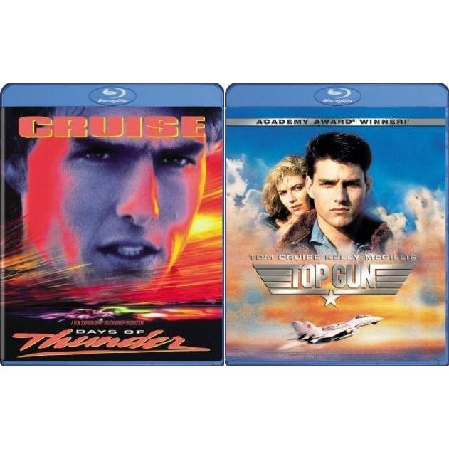 Top Gun and Days Of Thunder (Blu-Ray 2-pack Side by Side)