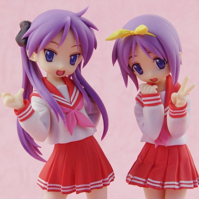 Lucky Star Treasure Figure Collection 1/12 Scale Pre-Painted PVC Figure: Hiiragi Kagami & Tukasa School (Uniform Version)
