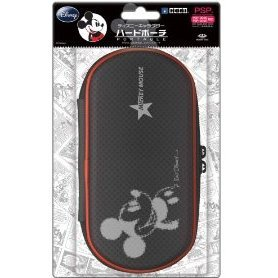 Disney Character Hard Pouch Portable (Mickey Black)