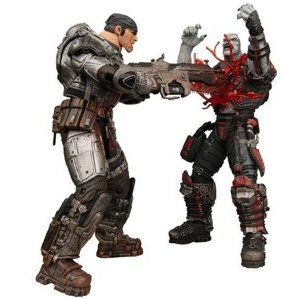 Gears of War Series 2 Pre-Painted Action Figure: Marcus vs Locust Chainsaw Version