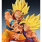 Dragon Ball Z Non Scale Pre-Painted Statue: Son Goku and Son Gohan (Kamehameha Version)