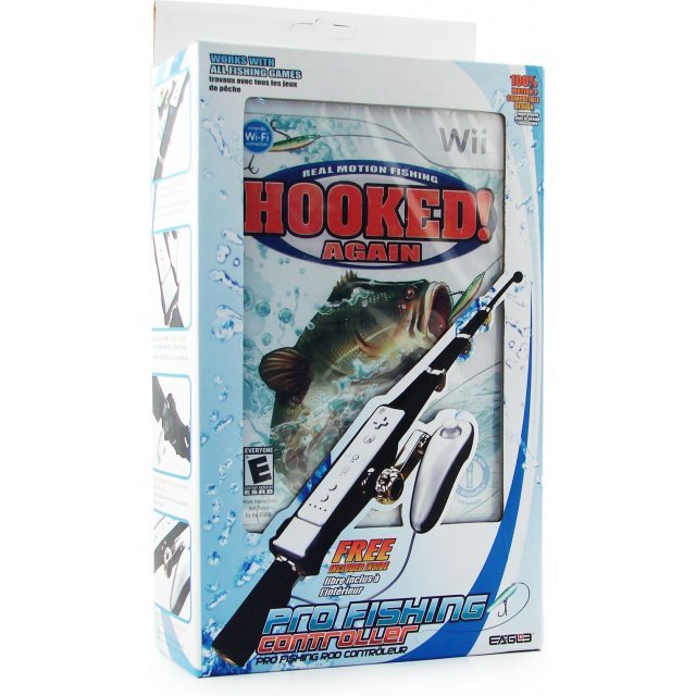 Hooked again w fishing rod bundle for Wii fishing rod