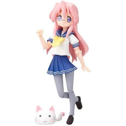 Lucky Star Non Scale Pre-Painted PVC Figure: figma Takara Miyuki (School Uniform Version)