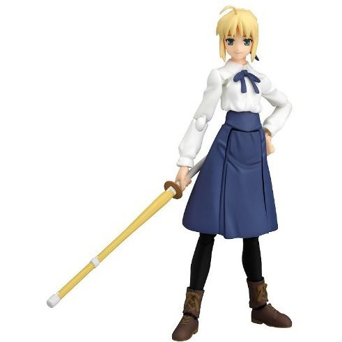 Fate/stay night Non Scale Pre-Painted PVC Figure: figma Saber (Casual Version)