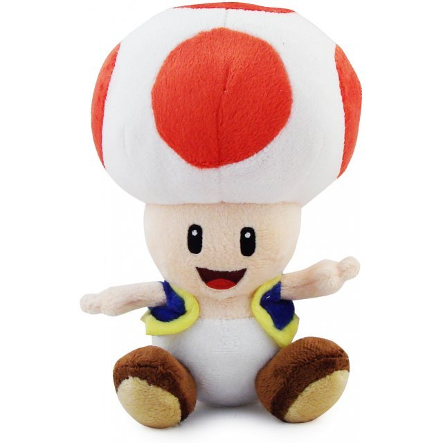Super Mario Plush Series Plush Doll: Toad (Small Size)