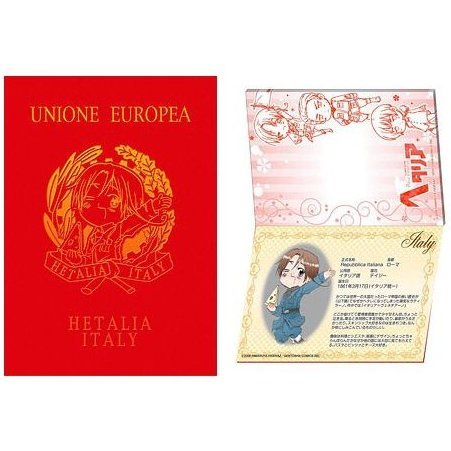 Hetalia: Axis Powers Passport Memo: Hetalia Italy