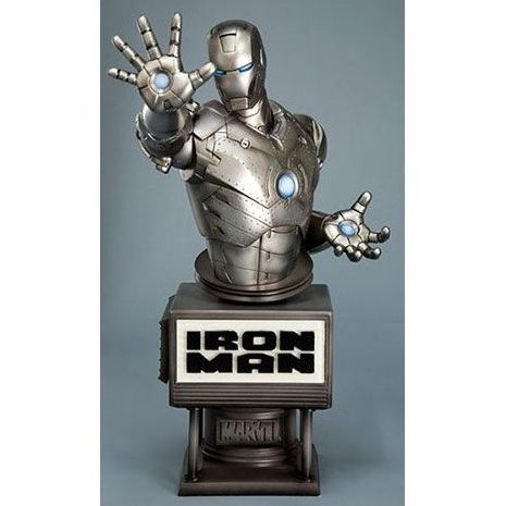 Iron Man Movie Fine Art Bust Non Scale Pre-Painted Cold Cast Statue: Ironman Mark II