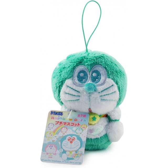 Rainbow Doraemon Mascot Mini Plush Doll: Green Dora