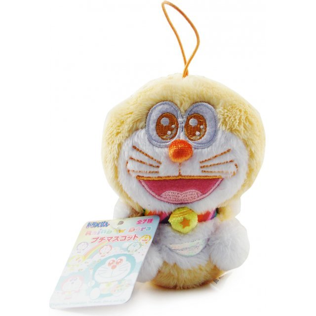 Rainbow Doraemon Mascot Mini Plush Doll: Orange Dora