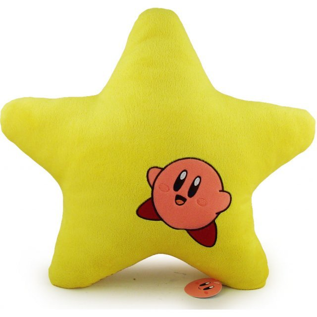 Kirby Adventure Yellow Star Cushion: Kirby Laugh