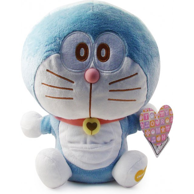 Doraemon Heartydora Wakuwaku Plush Doll: Doraemon Blue (Waving Version)