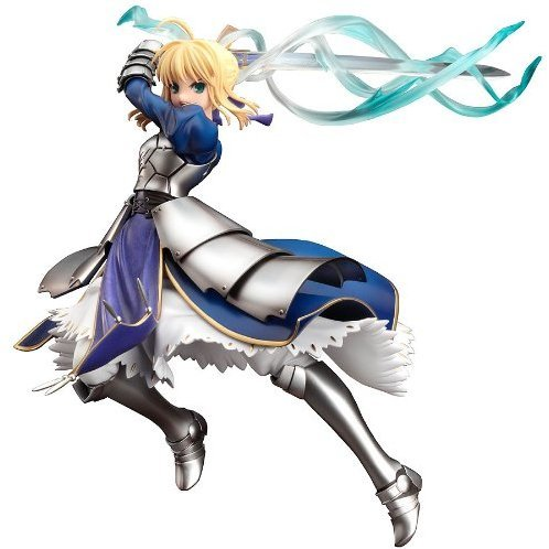 Fate/stay night 1/7 Scale Pre-Painted PVC Figure: Saber Excaliber Version (Re-Run)