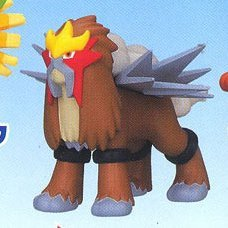 Pokemon DP Collectible Mini Pre-Painted Figure: Entei Fire Type