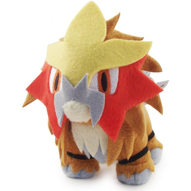 Pokemon Pocket Monster DP Korotto Pre-Painted Plush Doll: Entei