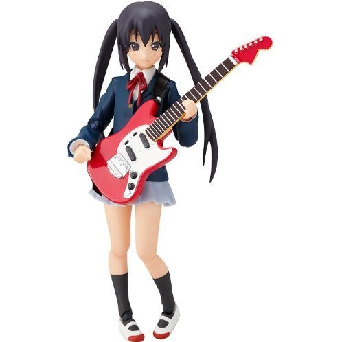 K-ON! Non Scale Pre-Painted PVC Figure: figma Nakano Azusa (School Uniform Version)