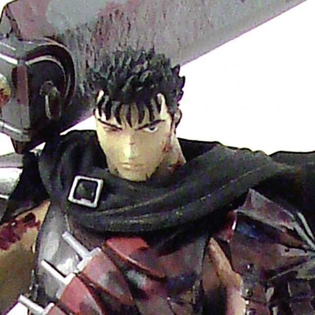 Berserk 1/10 Scale Pre-Painted PVC Figure - Guts the Black Fencer Limited ver. Bloody Color