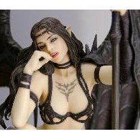 Fantasy Figure Gallery  Non Scale Pre-Painted Figure: Black Tinkerbell