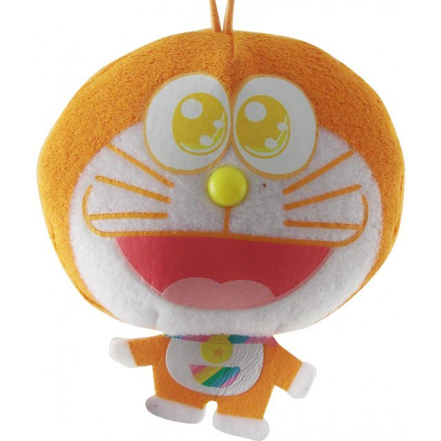 Rainbow Doraemon Mascot: Orange Dora