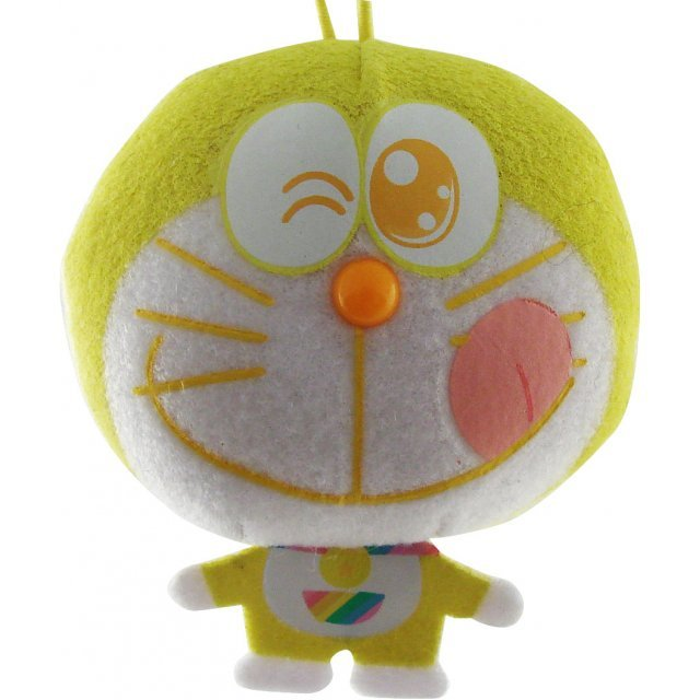 Rainbow Doraemon Mascot: Yellow Dora