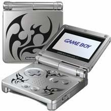 Game Boy Advance SP - Tattooed Platinum Limited Edition (110V)