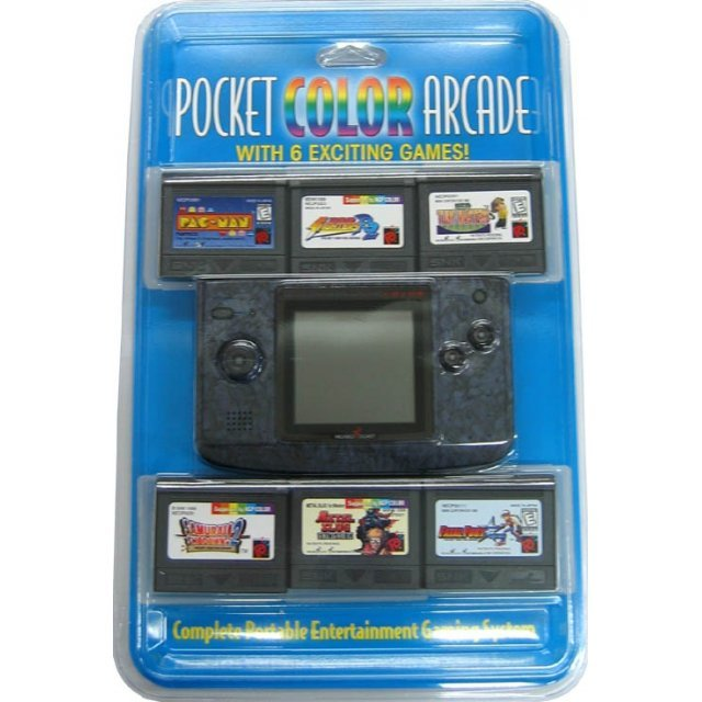 NeoGeo Pocket Color Bundle (incl. 6 games) - Stone Blue