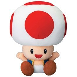 Super Mario Bros. DX Plush Doll: Toad (large)