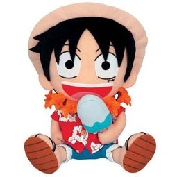From TV Animation ONE PIECE Big Plush Doll DX Summer Style - Model A: Luffy