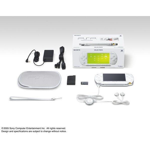 PSP PlayStation Portable Value Pack - Ceramic White (PSP-1000KCW)