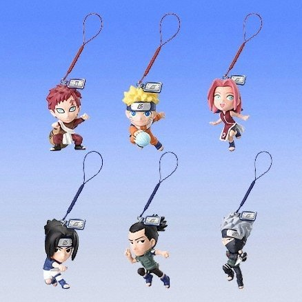 Naruto Ninja Solution Phone Strap Gashapon (full set)